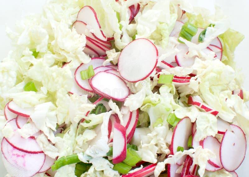 Salada do vegetal da mola foto de stock