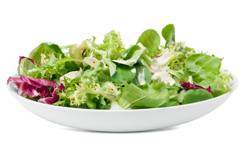 Salada e pingamento do queijo de feta imagens de stock royalty free