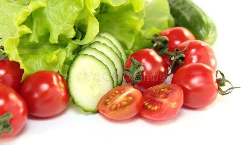 Salada e vegetais foto de stock