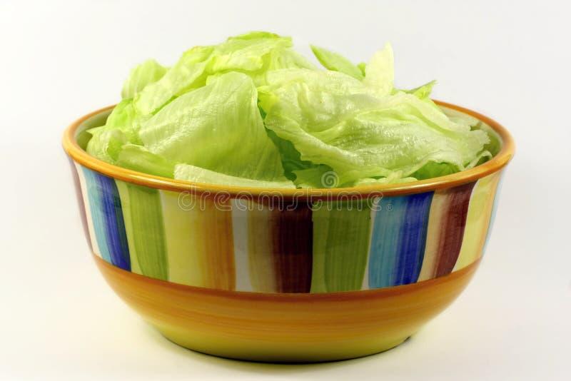 Salada em um prato imagem de stock royalty free