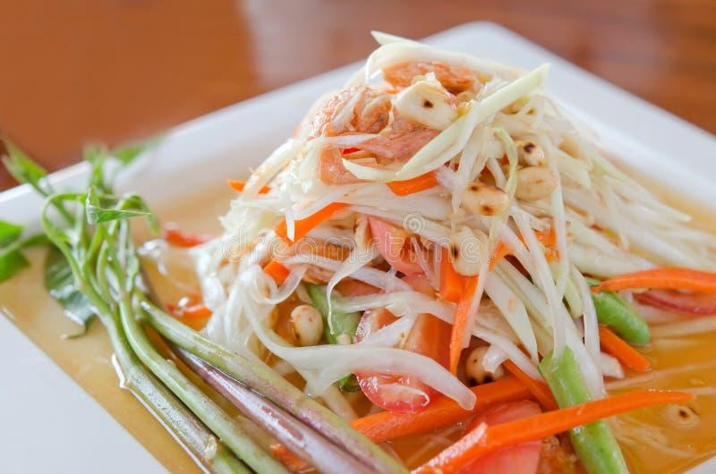 Salada especial da papaia foto de stock