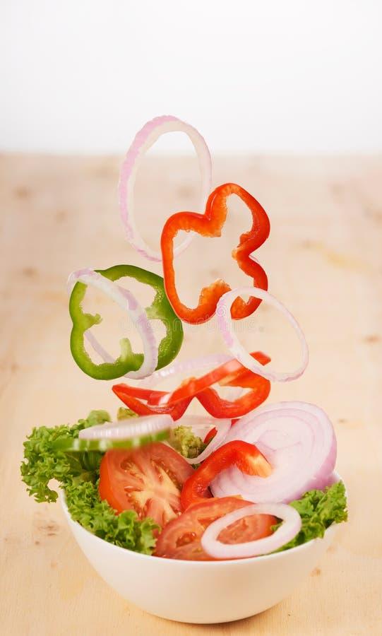 Salada flutuante fotografia de stock royalty free