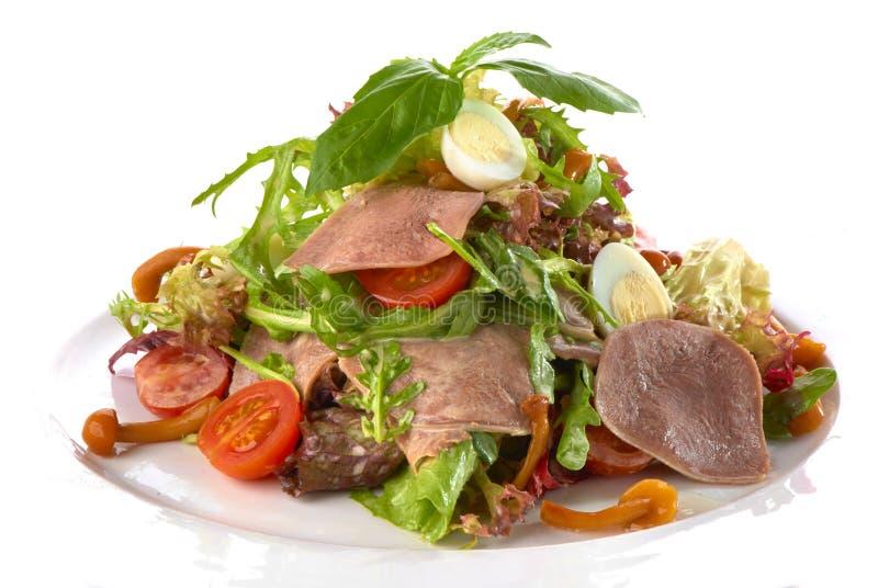 Salada fresca com língua fervida foto de stock royalty free