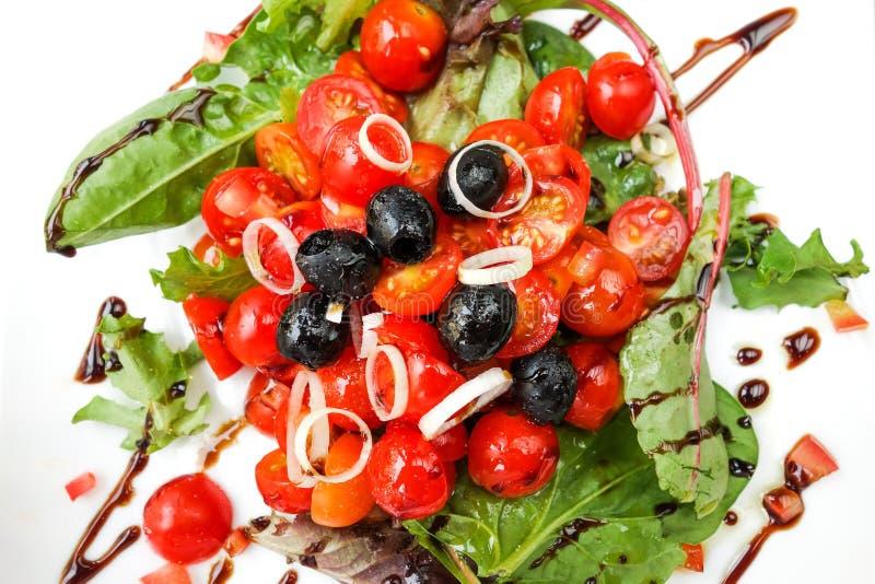 Salada fresca deliciosa do tomatoe imagens de stock