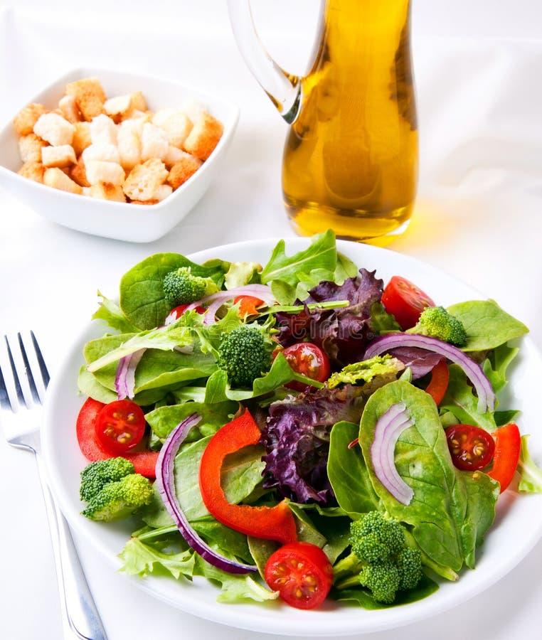 Salada fresca do jardim fotografia de stock royalty free