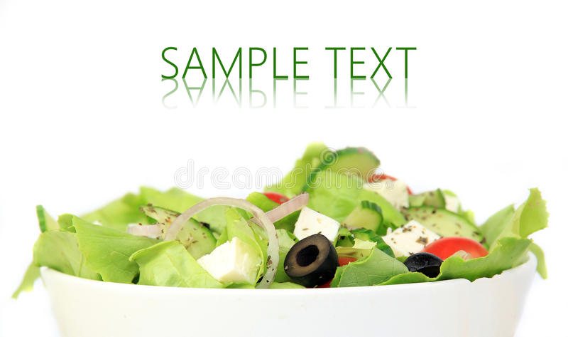 Salada fresca do jardim saudável foto de stock royalty free