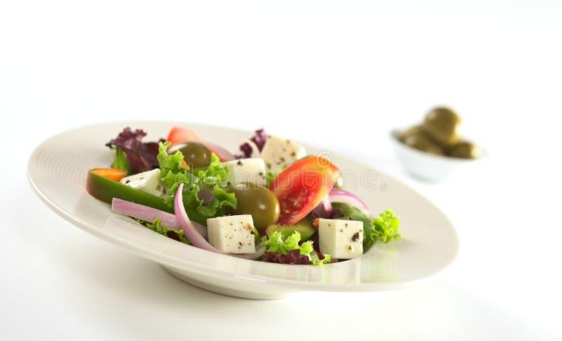 Salada grega imagem de stock royalty free