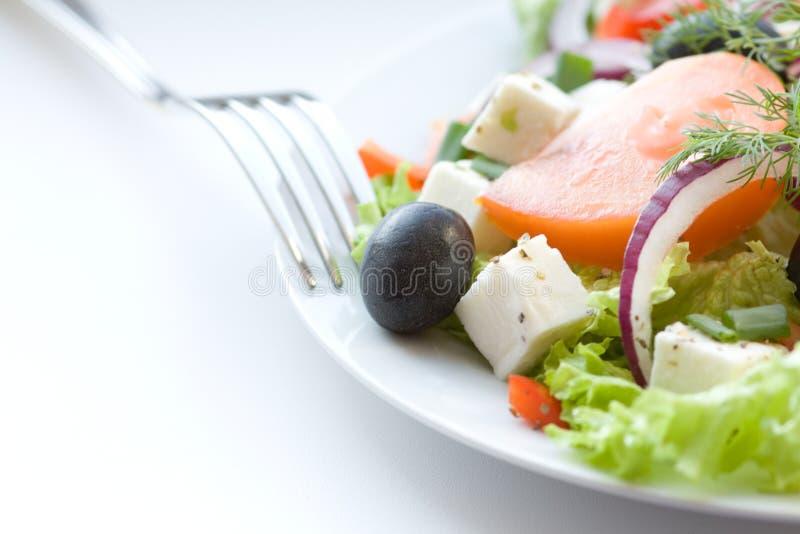Salada grega saudável fotos de stock royalty free