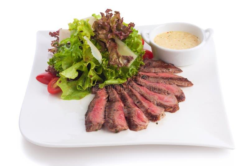 Salada grelhada da carne fotos de stock royalty free