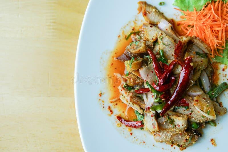 Salada grelhada da carne de porco imagens de stock royalty free