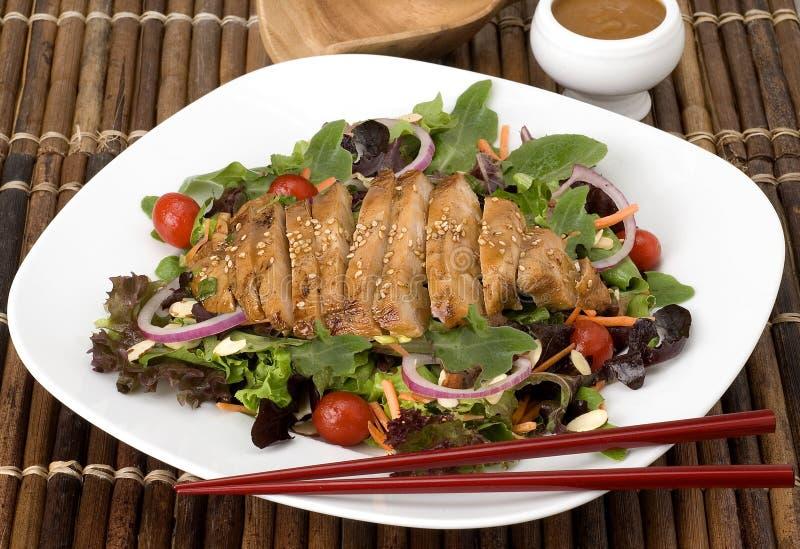 Salada grelhada da galinha fotografia de stock royalty free