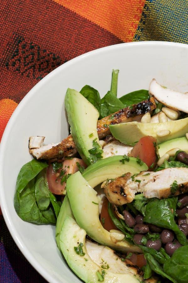 Salada grelhada da galinha - estilo do sudoeste fotos de stock