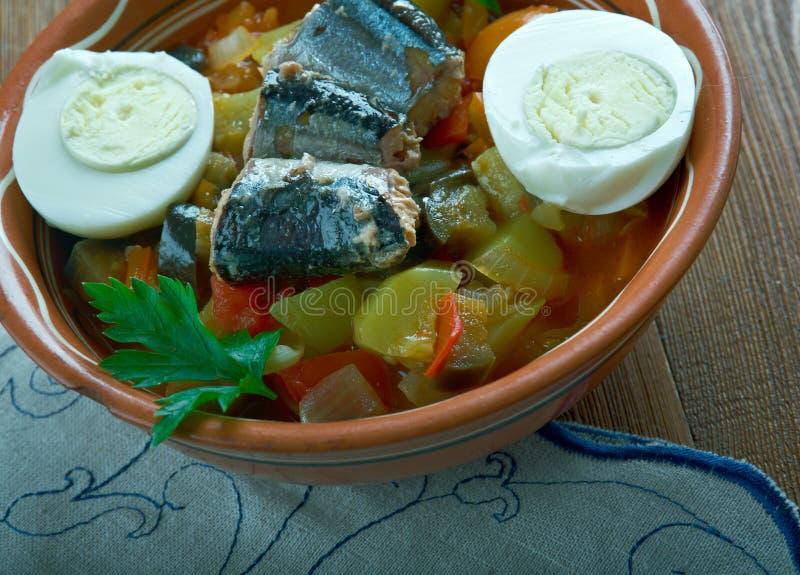 Salada grelhada Tunisian fotografia de stock