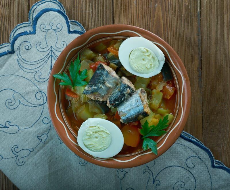 Salada grelhada Tunisian foto de stock royalty free