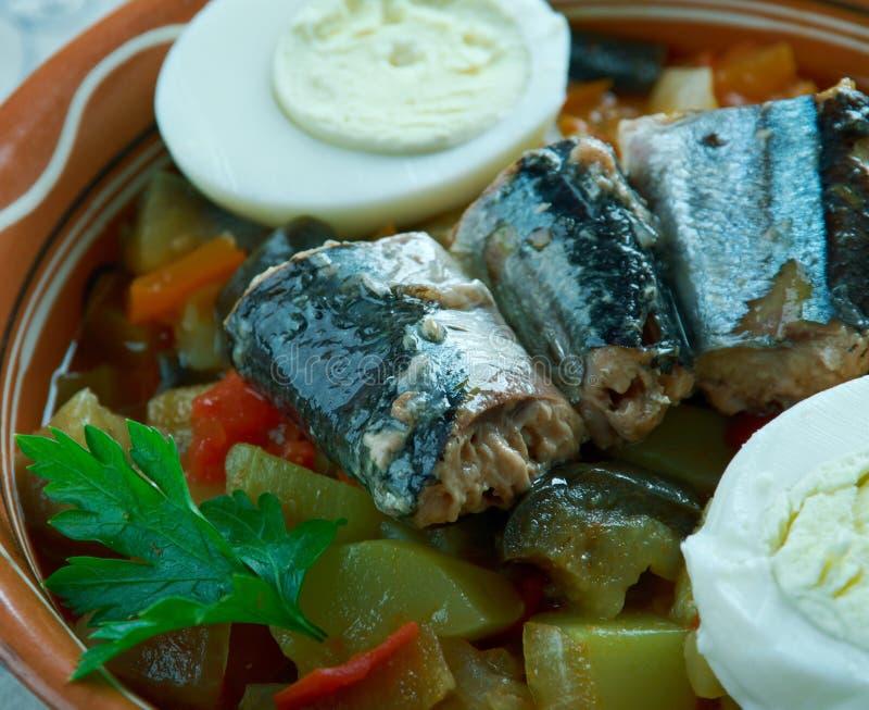 Salada grelhada Tunisian fotos de stock