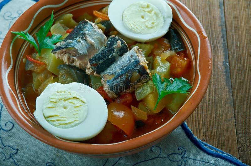 Salada grelhada Tunisian imagens de stock royalty free