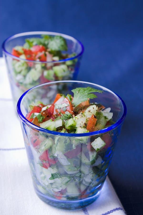 Salada indiana do pepino imagens de stock