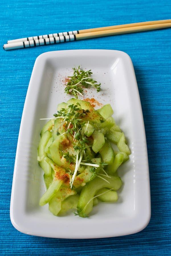 Salada japonesa do pepino imagens de stock royalty free