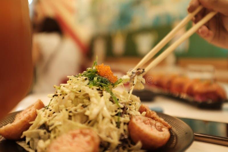 Salada Kani fotografia de stock royalty free