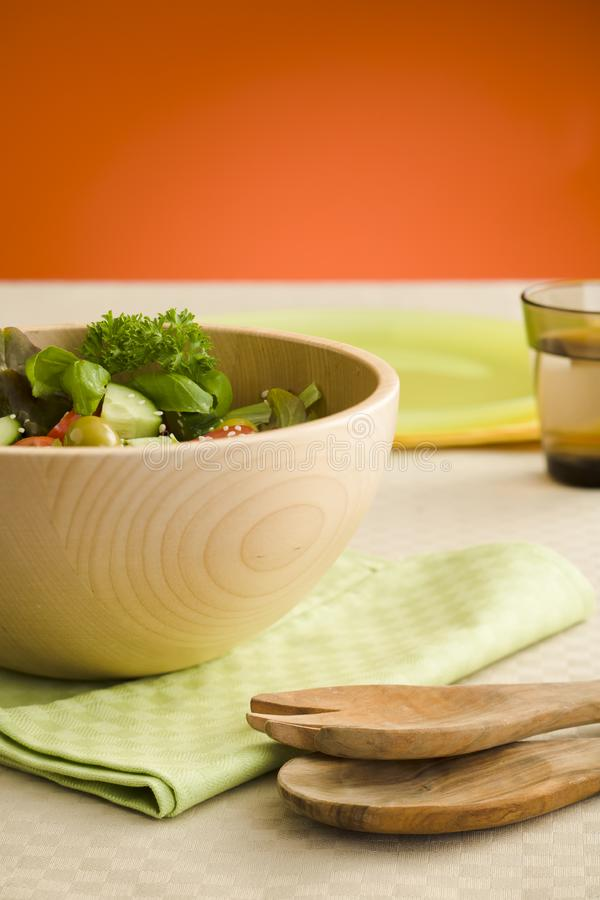 Salada lateral fotografia de stock royalty free