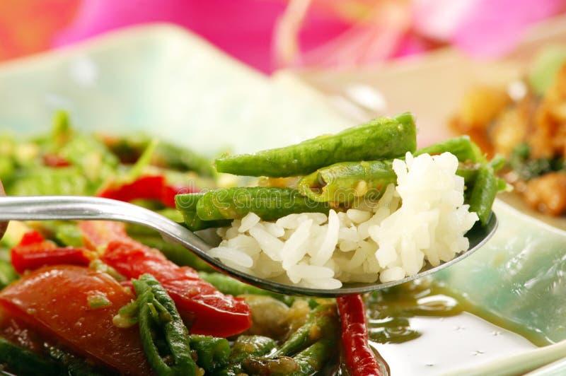 Salada longa do feijão (Tua Fak Yaow) imagem de stock