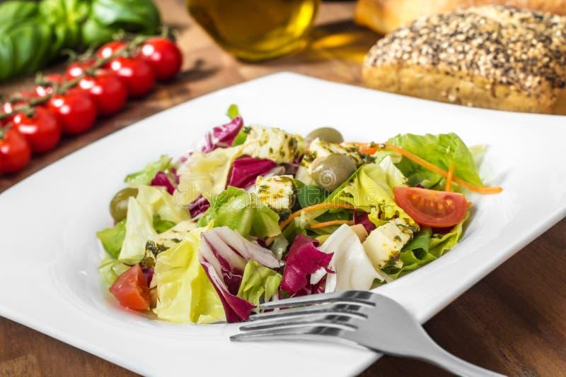 Salada misturada fresca - frischer, salat do bunter fotos de stock