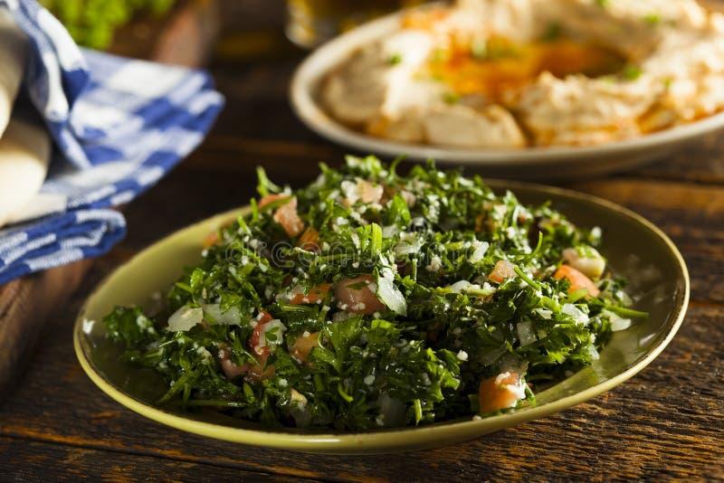 Salada orgânica saudável do taboulé foto de stock