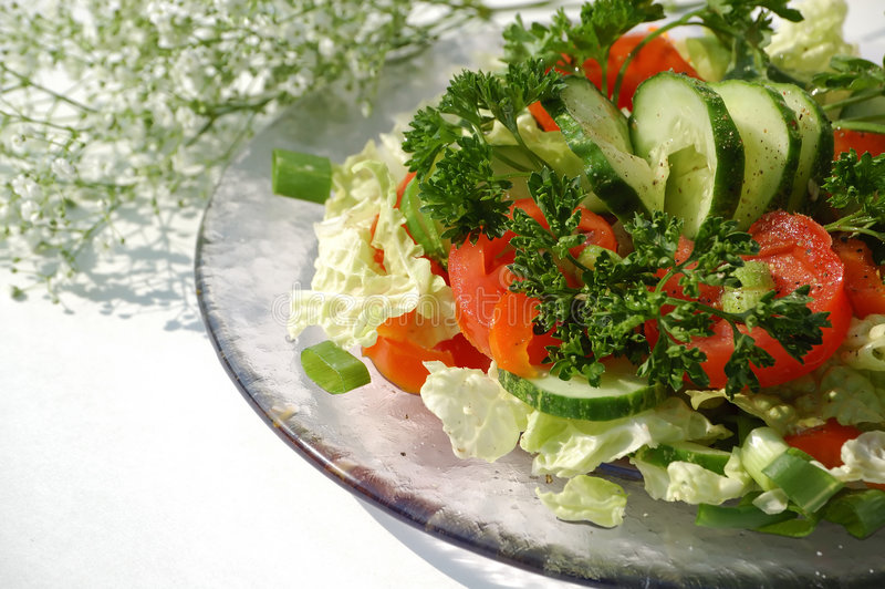 Salada para o almoço imagens de stock
