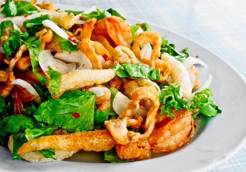 Salada picante 2 do marisco imagem de stock