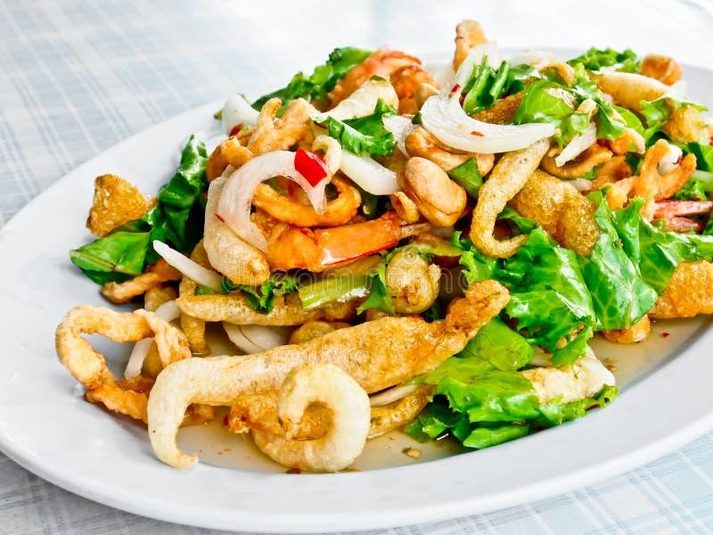 Salada picante 1 do marisco imagens de stock royalty free