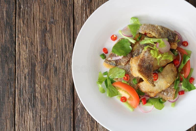 Salada picante frita de tricogaster pectoralis fotos de stock royalty free