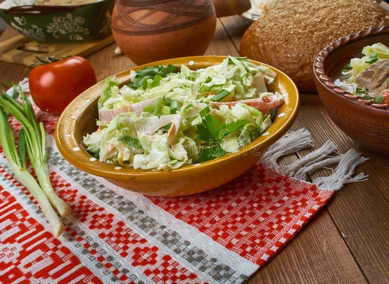 Salada polonesa do alho-porro imagens de stock