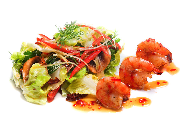 Salada saboroso ou apetizer fotos de stock royalty free