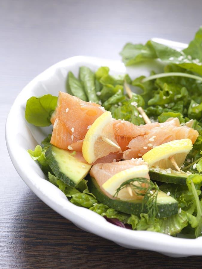 Salada Salmon imagens de stock