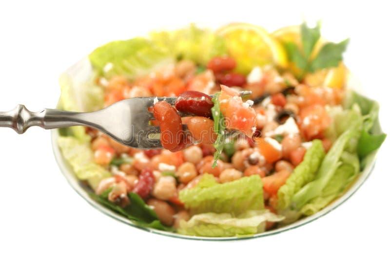Salada saudável do feijão do vegetariano fotografia de stock