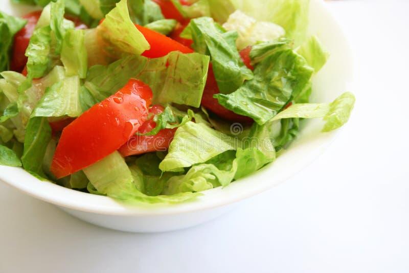 Salada saudável do vegetariano na placa branca fotos de stock