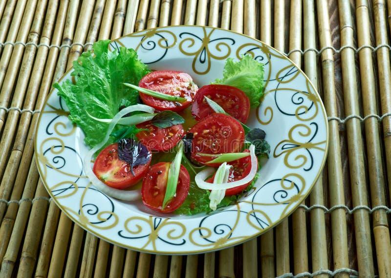 Salada sudanesa do tomate imagens de stock