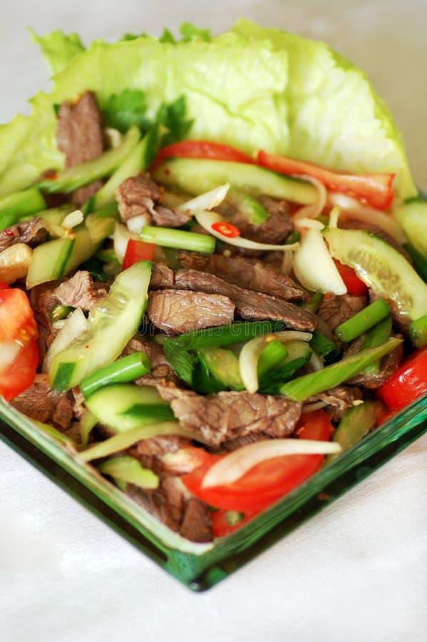 Salada tailandesa da carne imagens de stock
