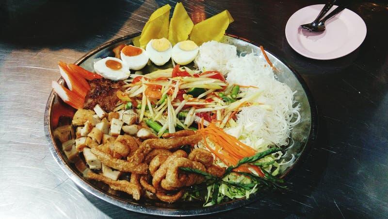 Salada tailandesa da papaia fotografia de stock