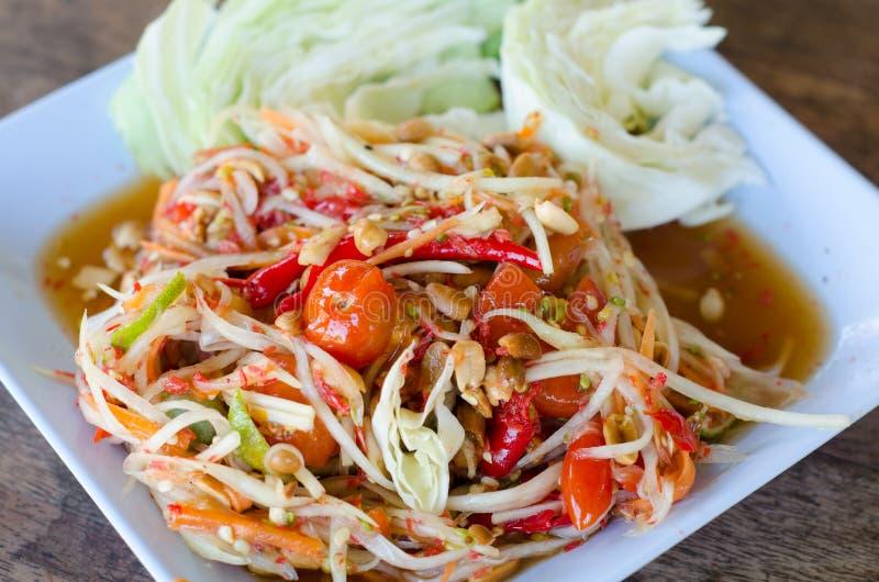 Salada tailandesa da papaia fotos de stock