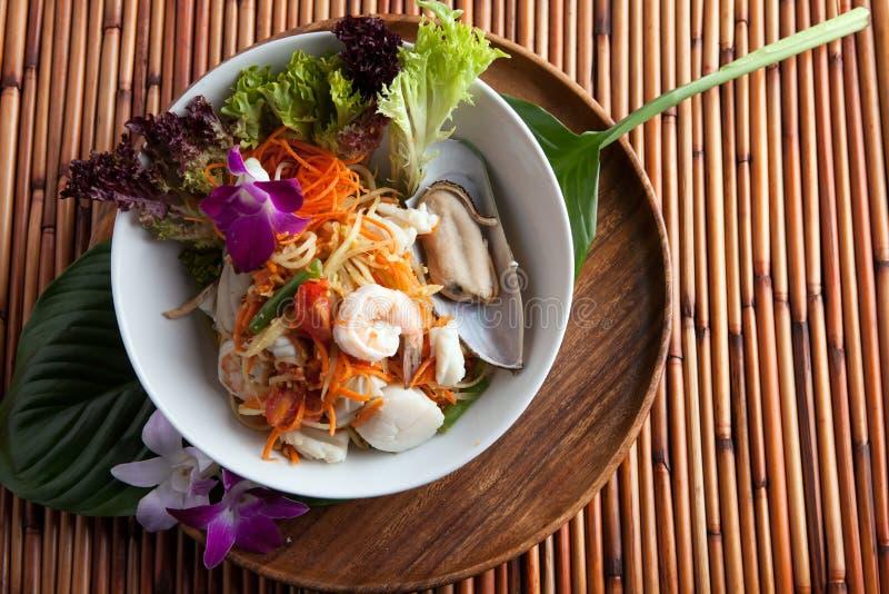 Salada tailandesa do Tum do som do marisco foto de stock royalty free