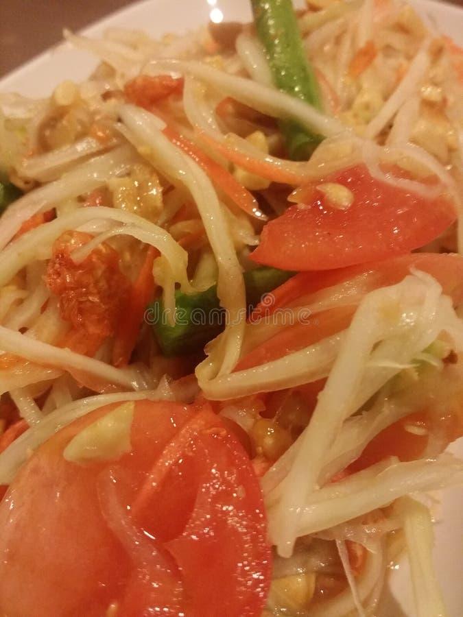 Salada tailandesa picante imagens de stock