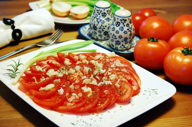 Salada v6 do tomate fotografia de stock royalty free