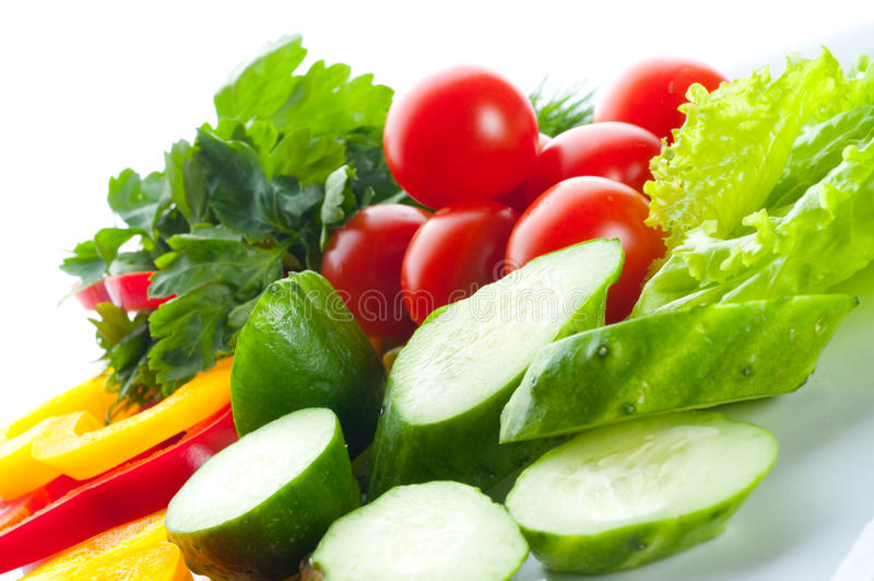 Salada vegetal. fotografia de stock royalty free