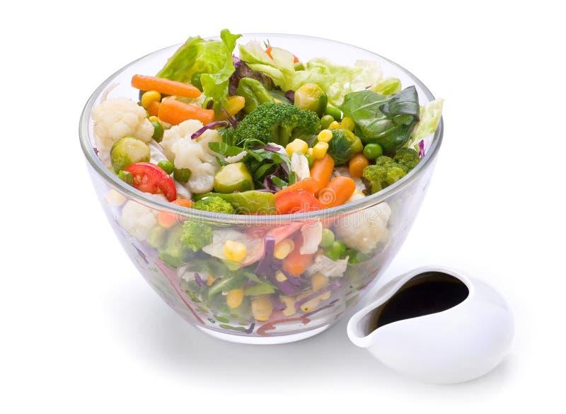 Salada vegetal morna imagens de stock