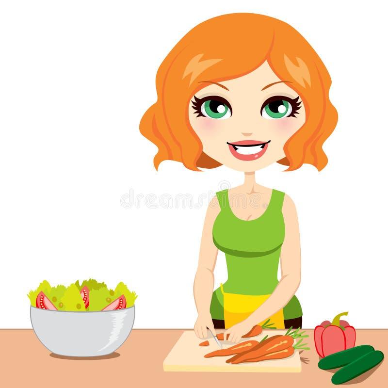 Salada vegetal saudável ilustração do vetor