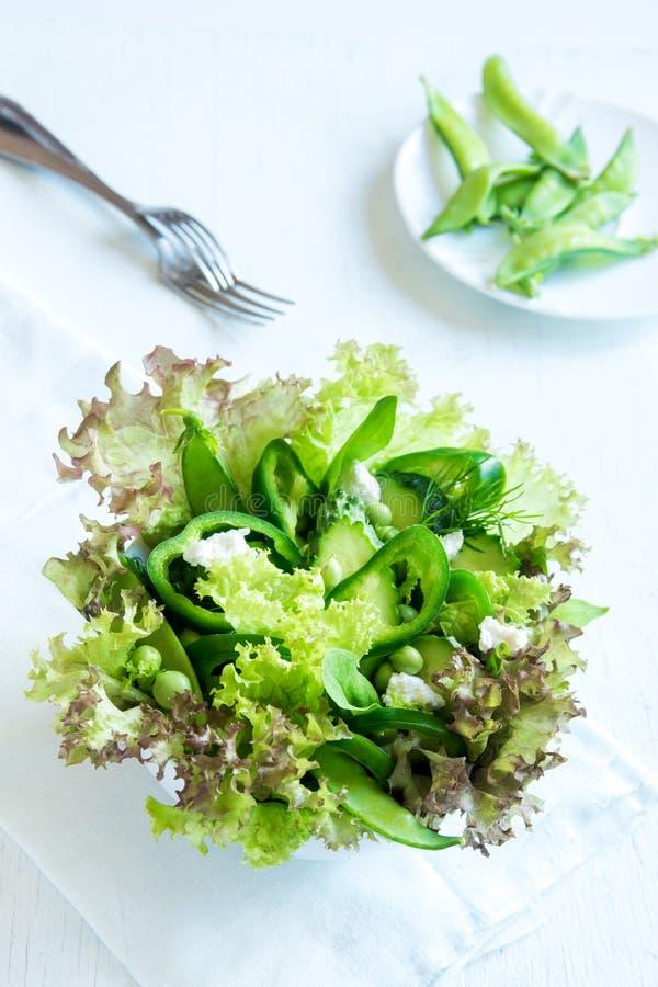 Salada vegetal verde fotografia de stock