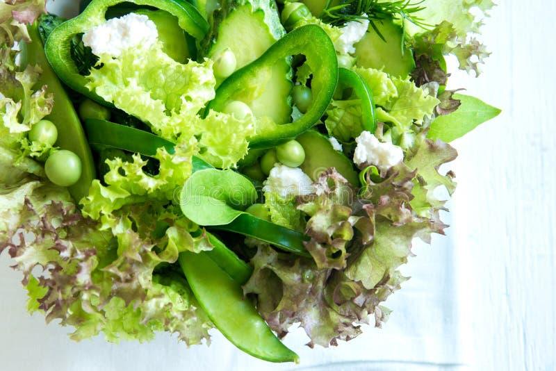 Salada vegetal verde imagens de stock