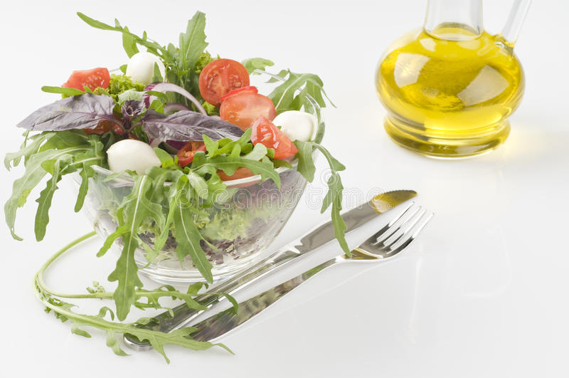 Salada vegetal verde fresca foto de stock royalty free