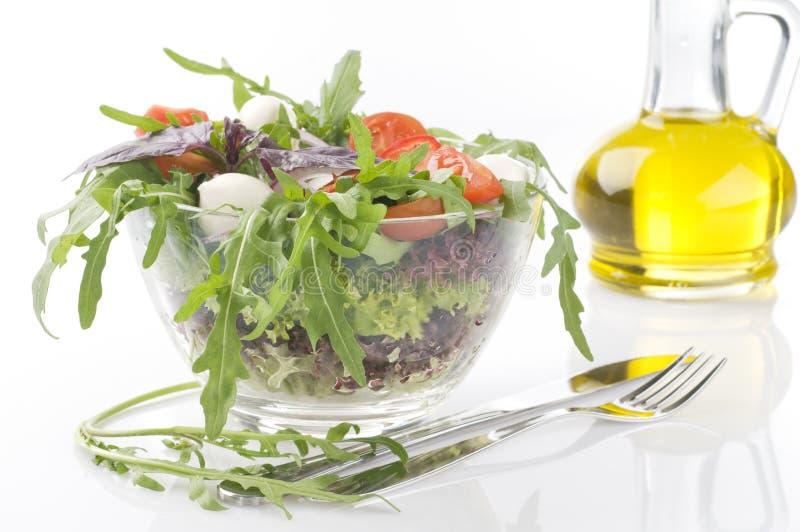 Salada vegetal verde fresca imagens de stock royalty free